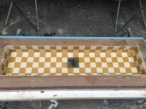 Terrazzo wastafel meubel