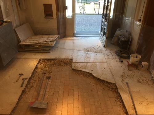 vervangen natuursteen vloer